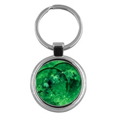 Green Bubbles Key Chain (Round)