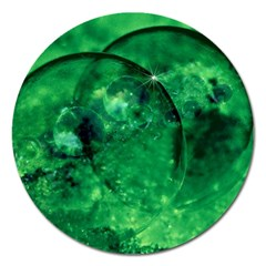 Green Bubbles Magnet 5  (Round)