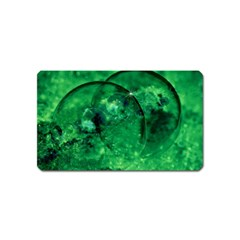Green Bubbles Magnet (Name Card)