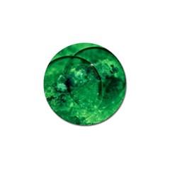 Green Bubbles Golf Ball Marker 4 Pack