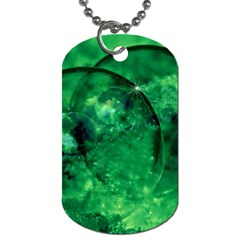 Green Bubbles Dog Tag (two Sided)