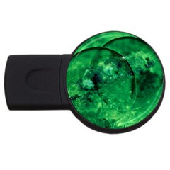 Green Bubbles 4GB USB Flash Drive (Round)
