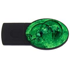 Green Bubbles 4gb Usb Flash Drive (oval)