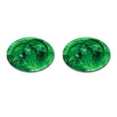 Green Bubbles Cufflinks (Oval)