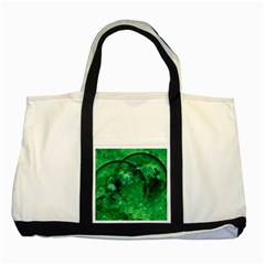 Green Bubbles Two Toned Tote Bag
