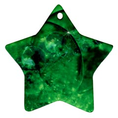 Green Bubbles Star Ornament (two Sides)