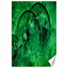 Green Bubbles Canvas 12  x 18  (Unframed)