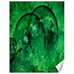 Green Bubbles Canvas 18  x 24  (Unframed)