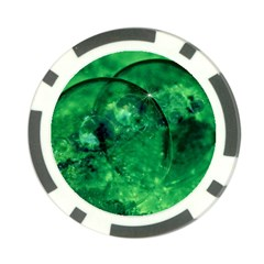 Green Bubbles Poker Chip