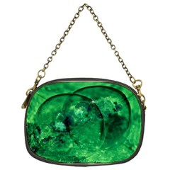 Green Bubbles Chain Purse (One Side)