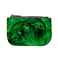 Green Bubbles Coin Change Purse