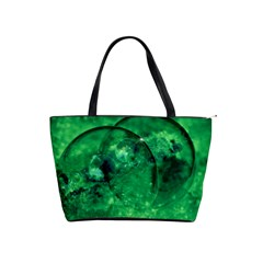 Green Bubbles Large Shoulder Bag