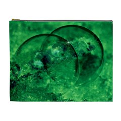 Green Bubbles Cosmetic Bag (XL)