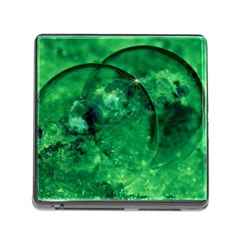 Green Bubbles Memory Card Reader With Storage (square)