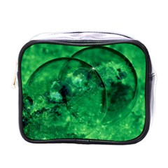 Green Bubbles Mini Travel Toiletry Bag (One Side)