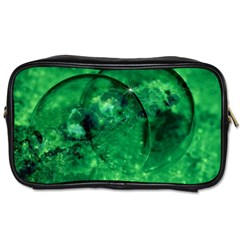 Green Bubbles Travel Toiletry Bag (one Side)