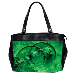 Green Bubbles Oversize Office Handbag (Two Sides)