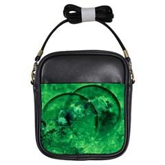 Green Bubbles Girl s Sling Bag