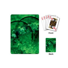 Green Bubbles Playing Cards (Mini)