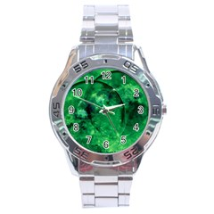 Green Bubbles Stainless Steel Watch (Men s)