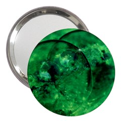 Green Bubbles 3  Handbag Mirror