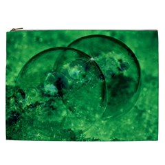 Green Bubbles Cosmetic Bag (XXL)