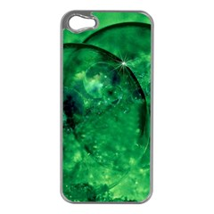 Green Bubbles Apple Iphone 5 Case (silver)