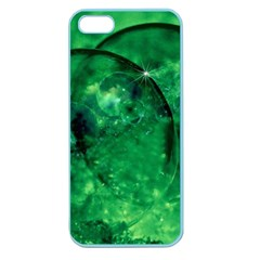 Green Bubbles Apple Seamless Iphone 5 Case (color)