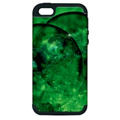 Green Bubbles Apple iPhone 5 Hardshell Case (PC+Silicone)