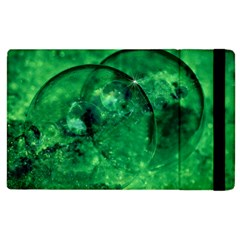 Green Bubbles Apple iPad 2 Flip Case