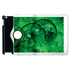 Green Bubbles Apple iPad 2 Flip 360 Case