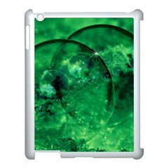 Green Bubbles Apple Ipad 3/4 Case (white)