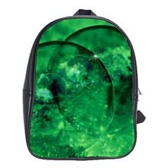 Green Bubbles School Bag (xl)