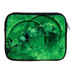 Green Bubbles Apple Ipad 2/3/4 Zipper Case