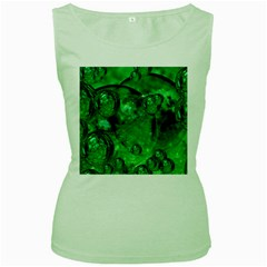 Illusion Womens  Tank Top (Green)