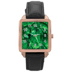 Illusion Rose Gold Leather Watch