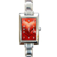 Love Rectangular Italian Charm Watch