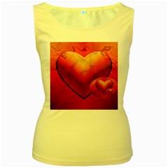 Love Womens  Tank Top (Yellow)