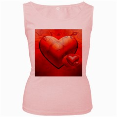 Love Womens  Tank Top (Pink)