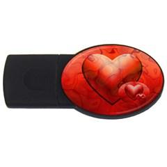 Love 1GB USB Flash Drive (Oval)