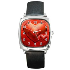Love Square Leather Watch