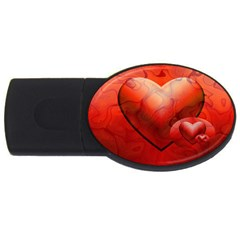 Love 4GB USB Flash Drive (Oval)