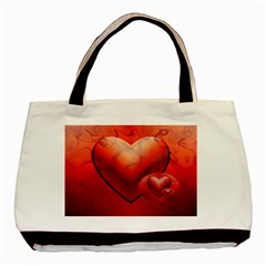 Love Twin-sided Black Tote Bag