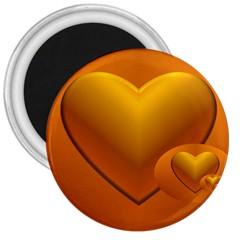 Love 3  Button Magnet