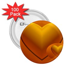 Love 2 25  Button (100 Pack)