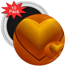 Love 3  Button Magnet (10 pack)