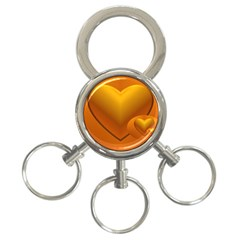 Love 3-Ring Key Chain