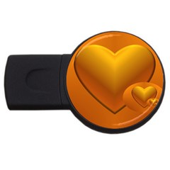 Love 1GB USB Flash Drive (Round)