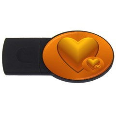 Love 1GB USB Flash Drive (Oval)