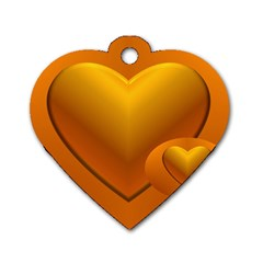 Love Dog Tag Heart (one Sided)